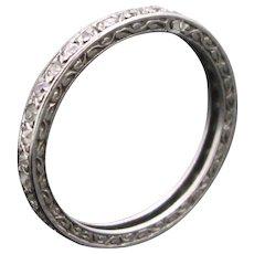 Art Deco Platinum Diamonds Eternity ring, France circa 1925
