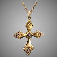 Art Nouveau Cross, 18kt gold and enamel, circa 1900