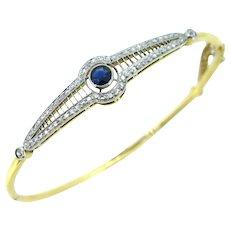Belle Epoque Sapphire and diamonds bangle, FRANCE, circa 1905