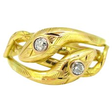 Victorian Snake Diamonds Ring, 18kt gold, France, circa 1880