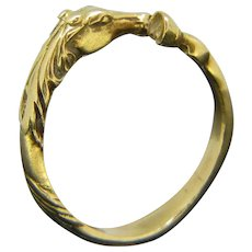 Antique Victorian Horse Ring, 18kt yellow gold, circa 1880