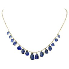 Vintage Graduated Sapphires Necklace, 18kt yellow gold