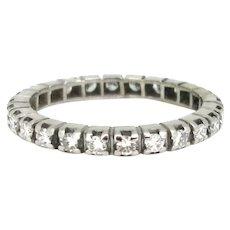 Retro Eternity Diamond Ring, 18kt White Gold, France, circa 1950