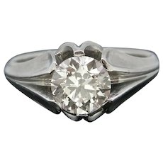 Retro 1.81ct Diamond Gypsy Ring, Platinum, circa 1950