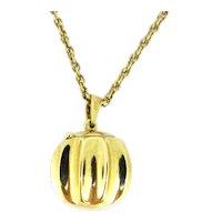 Vintage « La Boule de Moulins » Locket Pendant in its box, 18kt yellow Gold, France