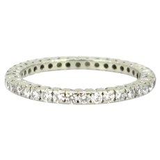 Vintage Eternity Diamond Ring, 18kt White Gold