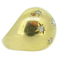 Vintage Star Diamonds Bombé ring, 18kt gold