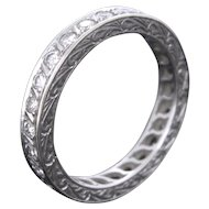 Art Deco Diamonds Eternity ring, circa 1920