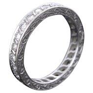 Art Deco Diamonds Eternity ring, circa 1920
