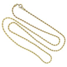 French Antique Twisted 18kt Yellow Gold Chain
