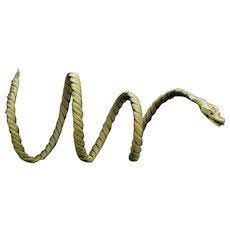 Vintage Snake Bracelet Red Stone, 18kt Yellow Gold