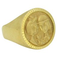 French Vintage ring : les Amoureux de Peynet (Peynet Lovers), by MURAT 18kt gold