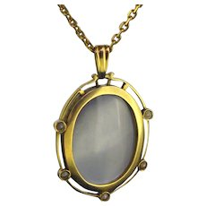 Antique Glass Locket 18kt yellow gold, early 20th century