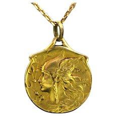 RARE French Art Nouveau Gallia Medal, Oria, circa 1905
