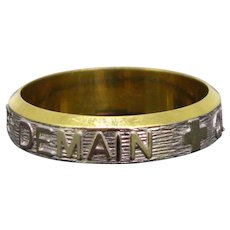 "Vintage Augis ""+ qu'hier – que demain"" Ring, 18kt gold, France"