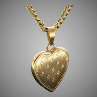 Vintage Heart Pendant, 18kt Yellow Gold, circa 1930