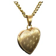 Vintage Heart Pendant, 18kt Yellow Gold, circa 1930