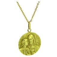 Vintage Religious Medal, 18kt gold, France, circa 1930