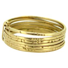 Seven Bands Semainier Ring, 18kt gold, circa 1920