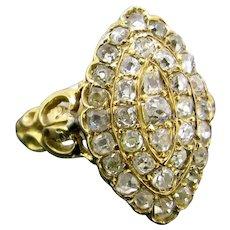Late Victorian Marquise Diamond Ring, circa 1880