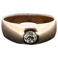 Vintage Gyspsy Diamond Ring, 18kt yellow gold, circa 1930