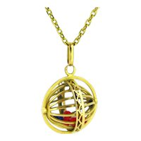 Early 20th century Loto Abacus Pendant, 18kt gold, France