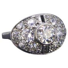 Art Deco Platinum Diamonds ring, circa 1925