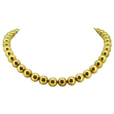 Vintage Gold Beads Necklace, France, circa 1940