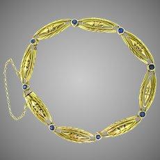 French Art Nouveau Bracelet, 18kt yellow gold, France, c.1900