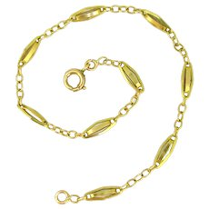 Antique Victorian Link Bracelet, 8.1inches, 18kt gold, France
