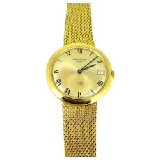 Patek Philippe IOS Million Dollar Yellow Gold Automatic Wristwatch, circa 1970