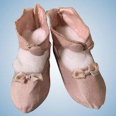 Wonderful artist silk slippers for French Bebe