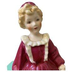 Gorgeous Royal Worcester figure. Grandmothers dress