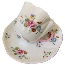 Pretty in pink Shelley cup and saucer