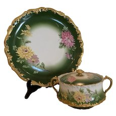 Fabulous Antique French T&V charger and tureen