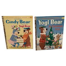Vintage Yogi and Cindy bear little golden books