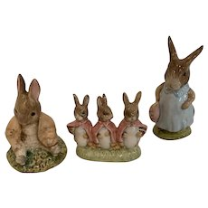 Vintage Royal Albert Beatrix Potter bunny family