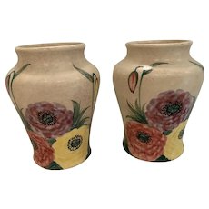 Vintage pair of English Radford ware vases