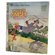 Vintage inspector Gadget little golden book