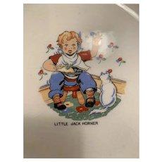 Vintage Little Jack Horner nursery  rhyme plate