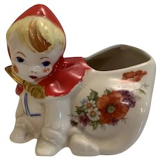 Vintage Hull riding hood Planter