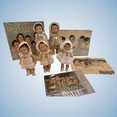 All original vintage Alexander Dionne Quintuplets