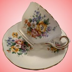 Delicate early staffordshire cup and saucer