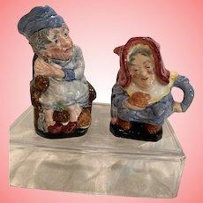 Vintage English burgess character pitchers