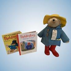 Vintage Large Paddington Bear with books