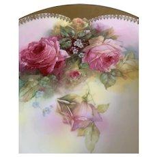 Royal Rudolstadt Prussian roses plate