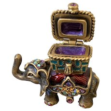 Jay Strongwater tiny elephant box