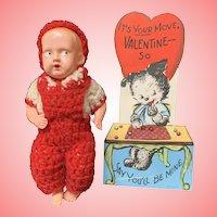 Vintage Irwin valentine baby doll