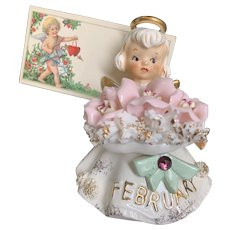 Vintage Lefton February Valentine Angel