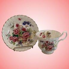 Vintage Royal Albert basket cup and saucer